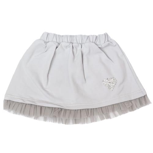 Detská bavlnená sukňa, Listy - sivá - 74-80 (9-12m)