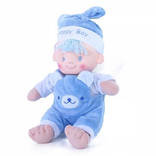 Bábika handrová 25 cm mimi modrej e-obal