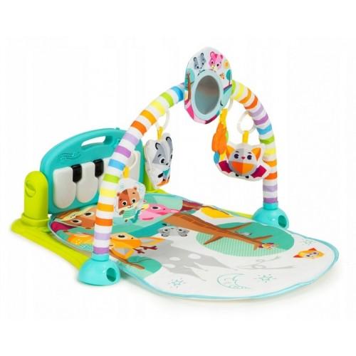 Eco Toys Hrajúcá interaktívná podložka s hrazdičkou, chrasítky a projektorom, mätová