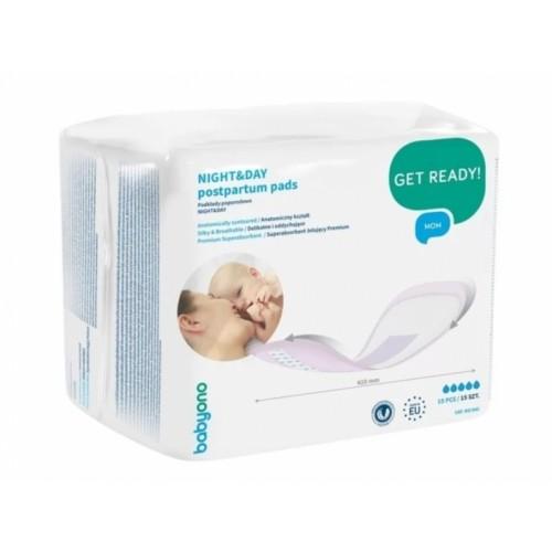 BabyOno Anatomické popôrodné vložky NIGHT & DAY - 15 ks