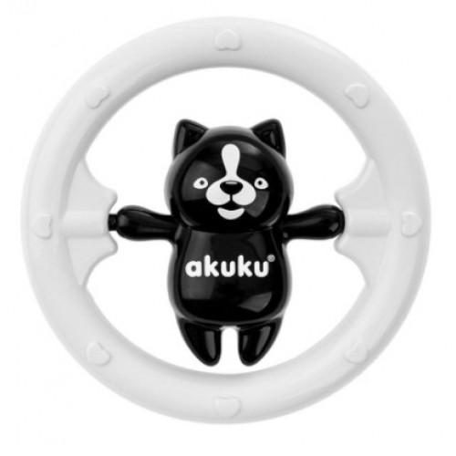 Akuku Hrkálka s Medvedíkom - čierno/biele