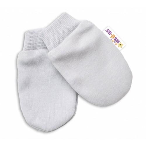 Baby Nellys Dojčenské rukavičky Lovely Bunny - sivé - 56 (1-2m)