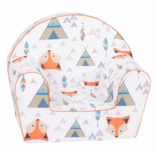 Delsit Detské kresielko, pohovka - Fox Teepee, biele