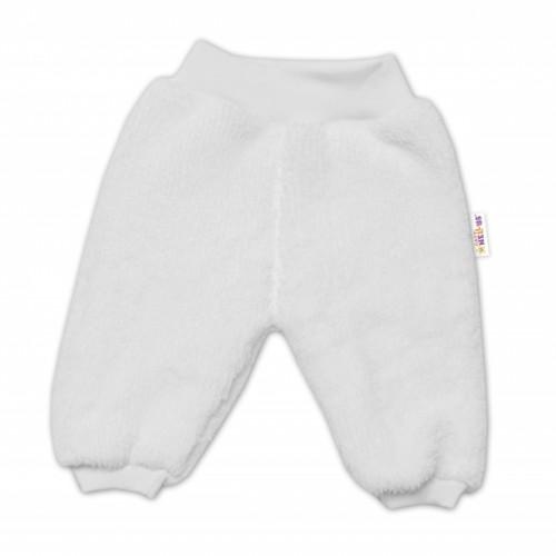 Baby Nellys Dojčenské chlupáčkové tepláčky Cute Bunny - biele - 56 (1-2m)