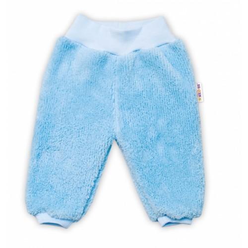 Baby Nellys Dojčenské chlupáčkové tepláčky Cute Bunny - modré - 56 (1-2m)