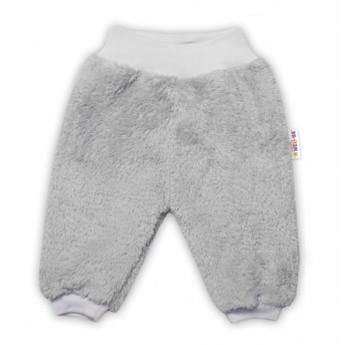 Baby Nellys Dojčenské chlupáčkové tepláčky Cute Bunny - sivé - 56 (1-2m)
