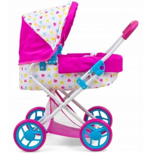 Milly Mally Hlboký kočík pre bábiky - Alice Candy - růžový