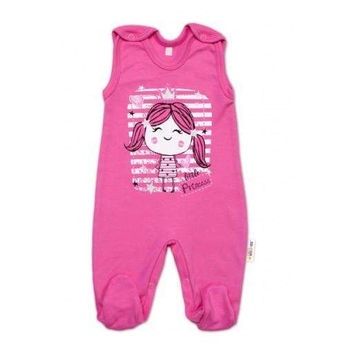 Baby Nellys bavlnené dupačky Sweet Little Princess, ružová - 50 (0-1m)
