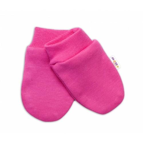 Baby Nellys Dojčenské rukavičky Sweet Little Princess, ružové - 56 (1-2m)