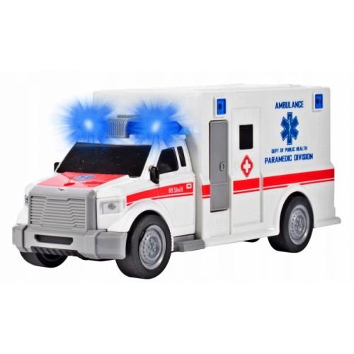 Tulimi Auto lekárska ambulancia so zvukom, biela