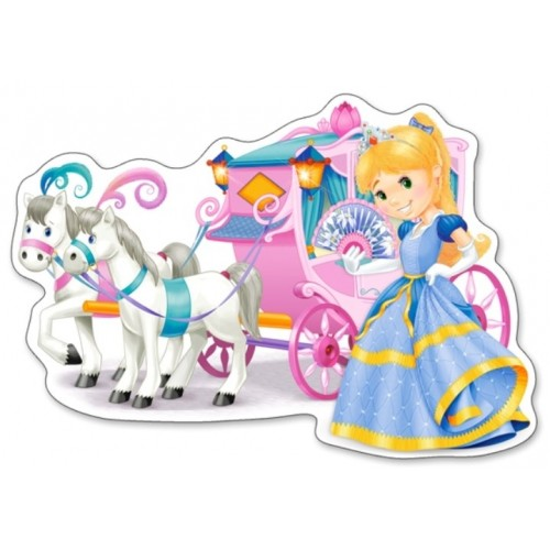 Castorland Puzzle Princess Carriage - 12 dielikov