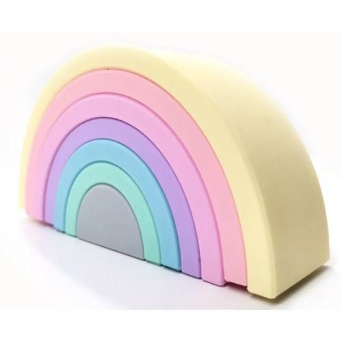 Baby in World Silikónová edukačná dúha Rainbow Pastel - 7 oblúkov