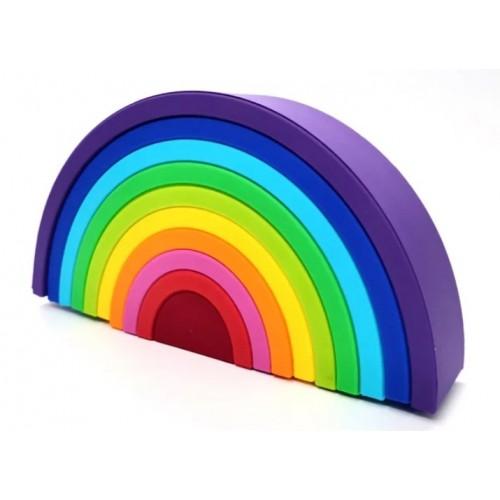 Baby in World Silikónová edukačná dúha Rainbow Purple - 10 oblúkov