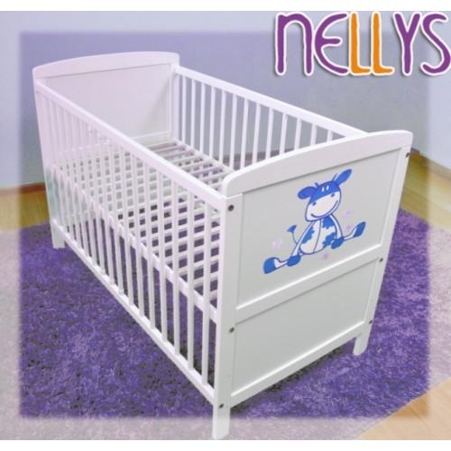Drevená postieľka Nellys biela - 120x60
