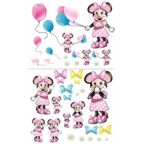 NELLYS Nálepky, dekorace na stěnu 70x100 cm - Myška s balónikom