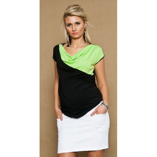 Be MaaMaa Tehotenské džínsová sukňa JOANA - biela - M (38)