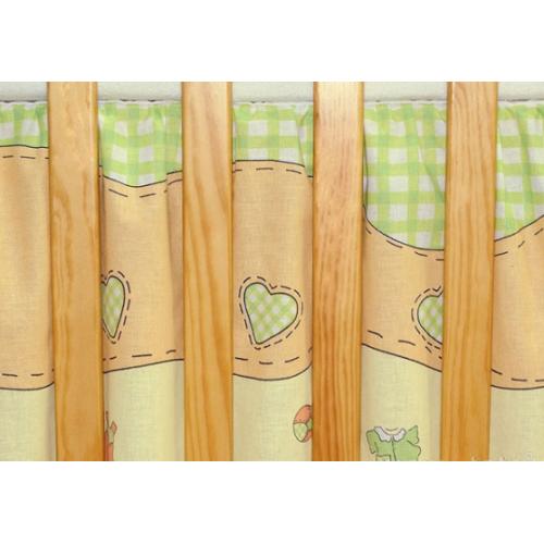 Mamo Tato Krásny volánik pod matrac - Bocian zelený - 120x60