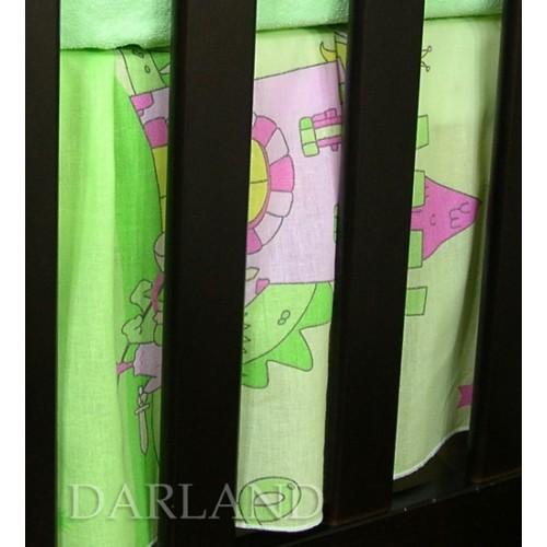 Darland Krásny volánik pod matrac - Zámok zelený - 120x60