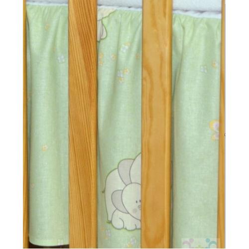 Mamo Tato Krásny volánik pod matrac - Slon zelený - 120x60