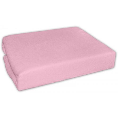 Baby Nellys Froté plachta 140x70cm - ružové - 140x70