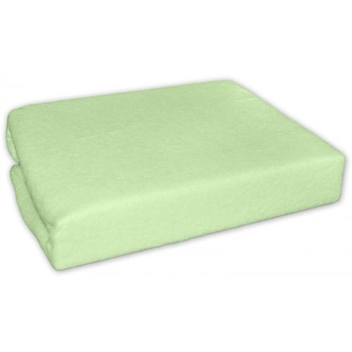Baby Nellys Froté plachta do postielky 120x60cm - Zelené - 120x60