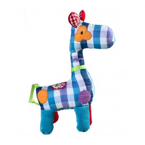 BabyOno Hračka s hrkálkou Žirafka KÁRO