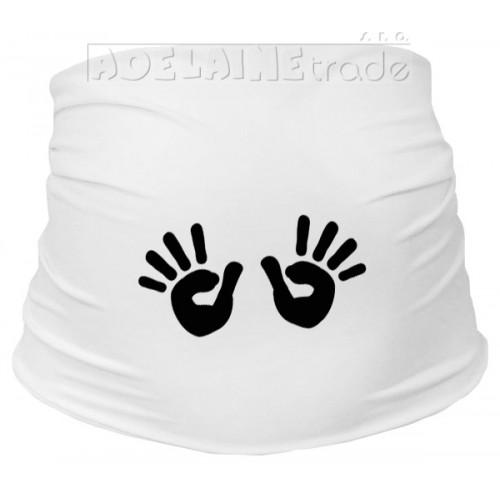 Mamitati Tehotenský pás s ručičkami - biely - L/XL