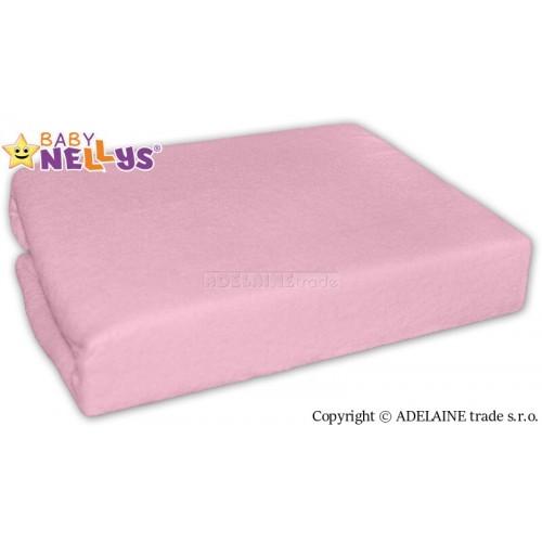 Nepremokavé prestieradlo Baby Nellys ® - Sv. Ružové - 120x60
