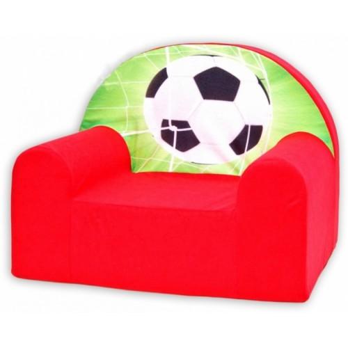 Detské kresielko / pohovečka Nellys ® - Futbal v červenej