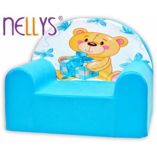 Detské kresielko / pohovečka Nellys ® - Míša Nellys v modrom