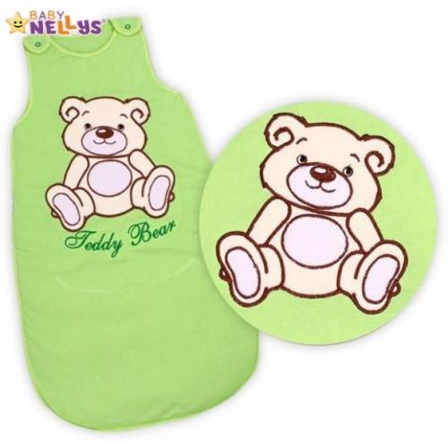 Spací vak Medvedík Teddy, Baby Nellys - sv. zelený vel. 2