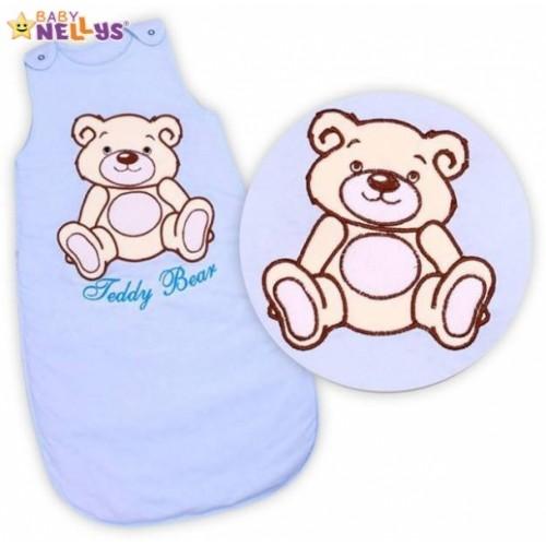 Spací vak Medvedík Teddy, Baby Nellys - sv. modrý vel. 2