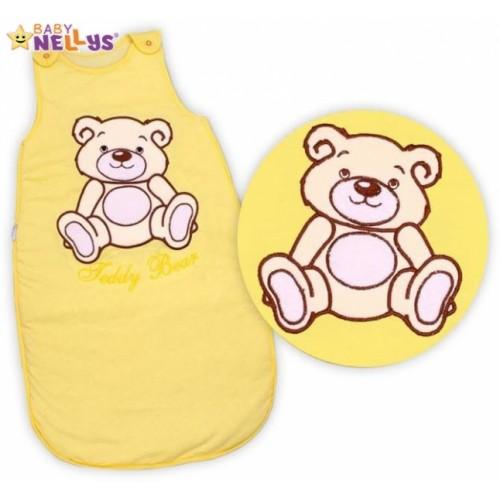 Spací vak Medvedík Teddy Baby Nellys - žltý / krémový veľ. 1