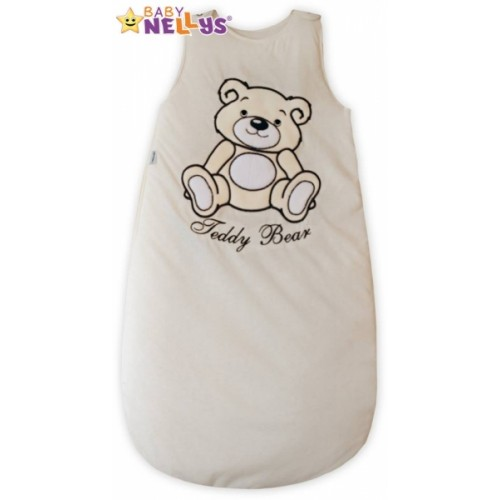 Spací vak Medvedík Teddy Baby Nellys - smotanový / ecru veľ. 1