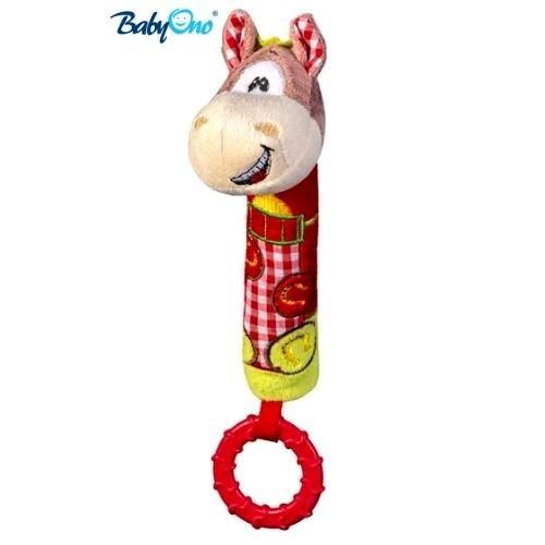 BabyOno Edukačná hračka pískací s hryzátkom - KONÍČEK