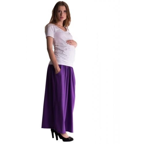 Be MaaMaa Maxi dlhá sukňa MAXINE - fialová
