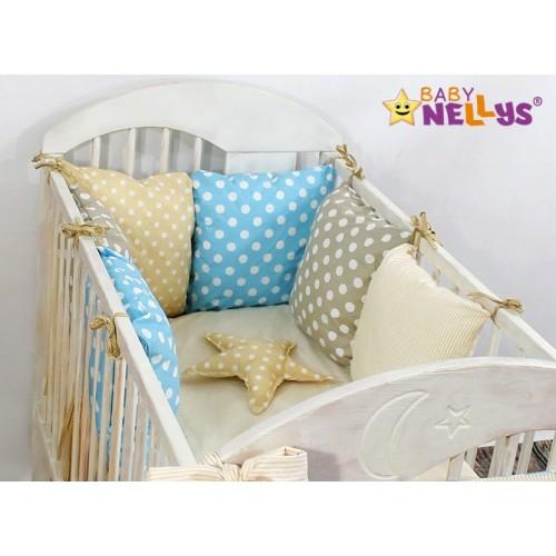 Baby Nellys Mantinel Be Love Lux vankúšikový s obliečkami vzor č. 1 - 120x90