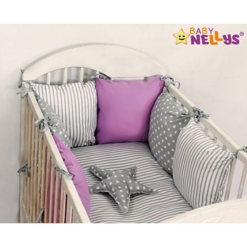 Baby Nellys Mantinel Be Love Lux vankúšikový s obliečkami vzor č. 4 - 135x100