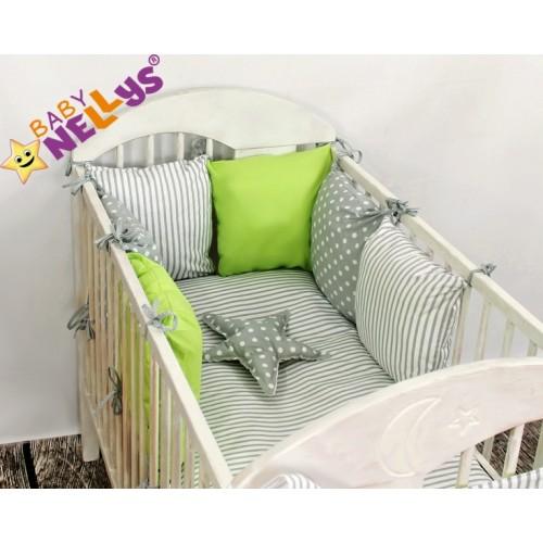 Baby Nellys Mantinel Be Love Lux vankúšikový s obliečkami vzor č. 6 - 135x100