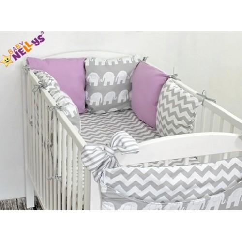 Baby Nellys Mantinel Be Love Lux vankúšikový s obliečkami vzor č. 17 - 120x90