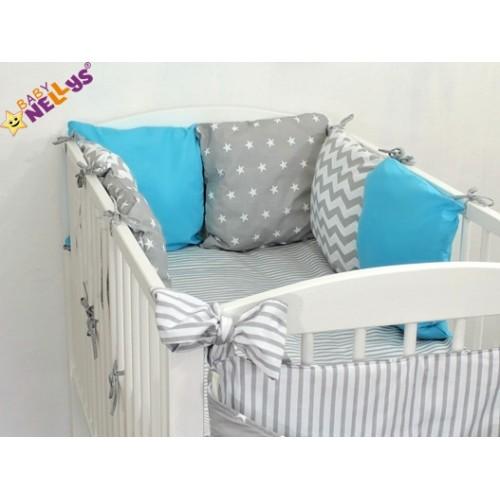 Baby Nellys Mantinel Be Love Lux vankúšikový s obliečkami vzor č. 18 - 135x100