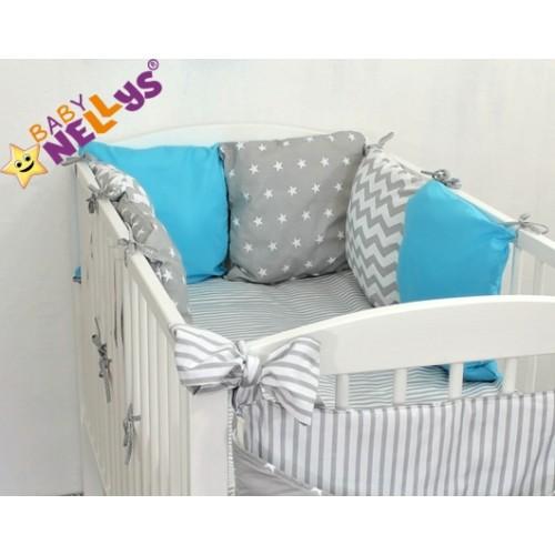 Baby Nellys Mantinel Be Love Lux vankúšikový s obliečkami vzor č. 21 - 120x90