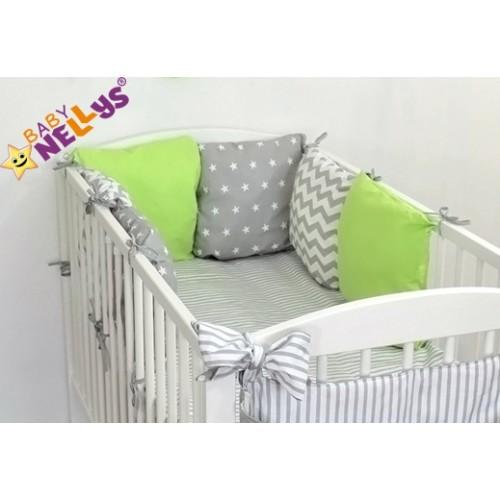 Baby Nellys Mantinel Be Love Lux vankúšikový s obliečkami vzor č. 22 - 120x90
