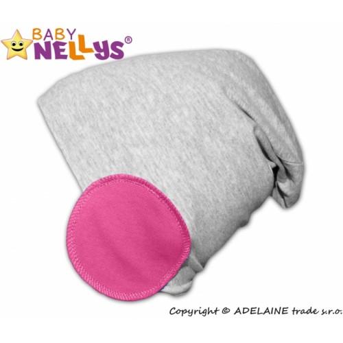 Baby Nellys Bavlnené čiapky Bubble - ružová - 48/52 čepičky obvod