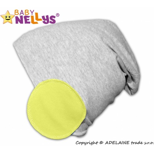 Baby Nellys Bavlnené čiapky Bubble - lemon - 48/50 čepičky obvod