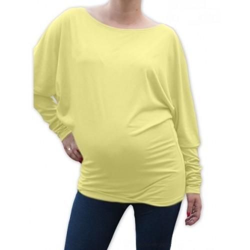 Be MaaMaa Symetrická tehotenská tunika - žltá