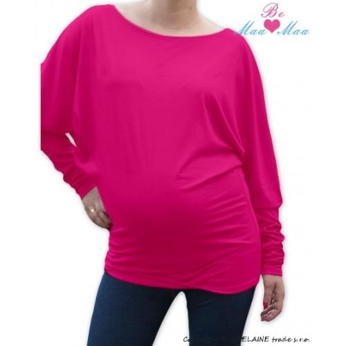 Be MaaMaa Symetrická tehotenská tunika - ružová