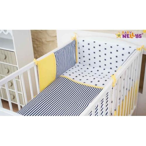 Baby Nellys Mantinel s obliečkami Stars be Love č. 9 - 120x90