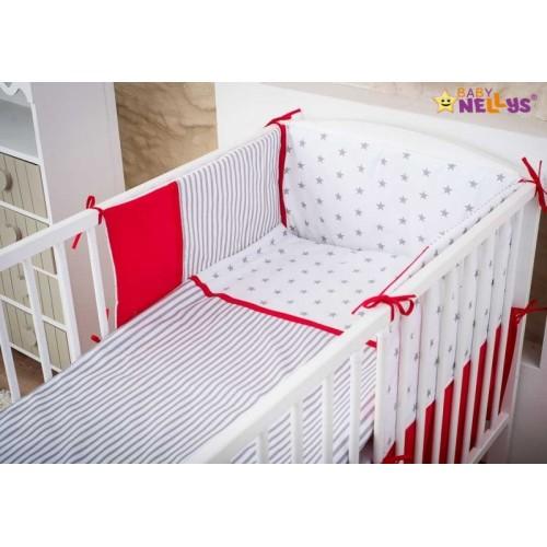 Baby Nellys Mantinel s obliečkami Stars be Love  č. 10 - 120x90