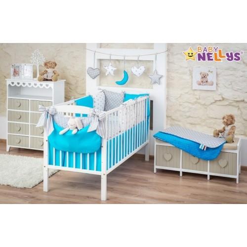 Baby Nellys Mega sada Be LOVE - Tyrkys / sivá - 135x100